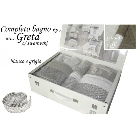 Completo Bagno Greta c/swarovski 6 PZ RENATO BALESTRA